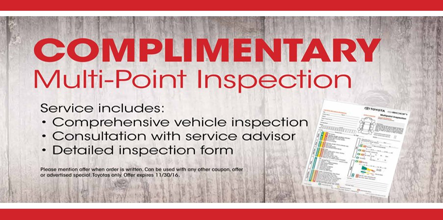 Toyota Inspection Coupons 28 Images Service And Parts
