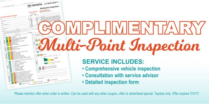July Multipoint Inspection Special